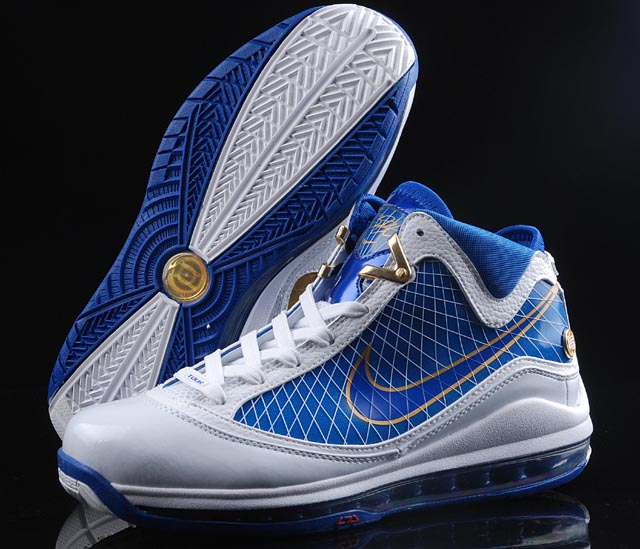 Nike Lebron 7 white/blue/golden