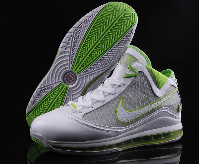 Nike Lebron 7 white/gray/green