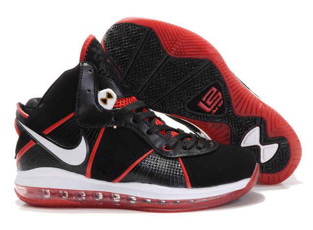 Nike Lebron 8 black/white/red II