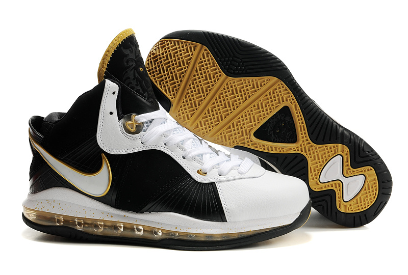 Nike Lebron 8 black/white/golden
