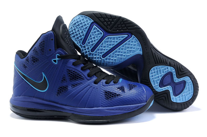 Nike Air Max Lebron VIII PS black/blue/deepskyblue