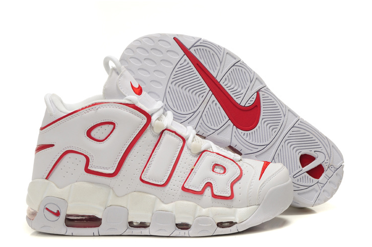 Nike Air More Uptempo Shoes red/white