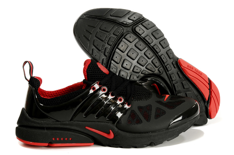 Nike Air Presto Running Shoes black/red