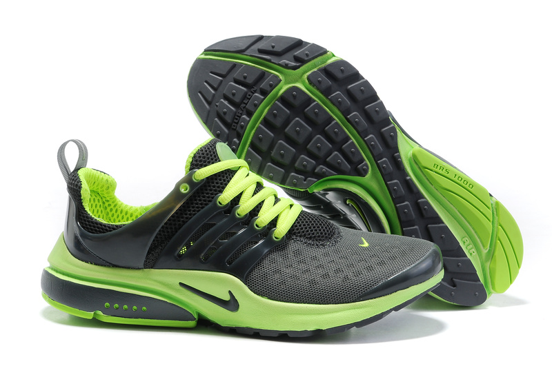 Nike Air Presto Running Shoes black/lawngreen II