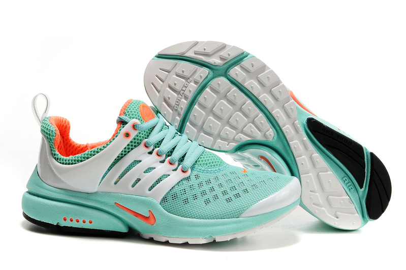 Air Presto Womens Shoes white/orangered/darkturquoise