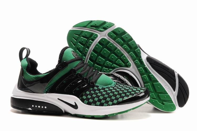 Air Presto Woven white/black/darkgreen