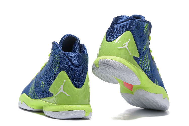 Jordan Super.Fly 4 yellowgreen/blue/white