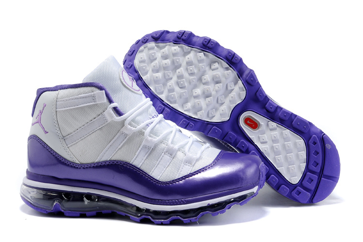 Jordan 11 Air Max Fusion Women white/blueviolet