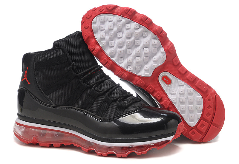 Jordan 11 Air Max Fusion Women black/white/red