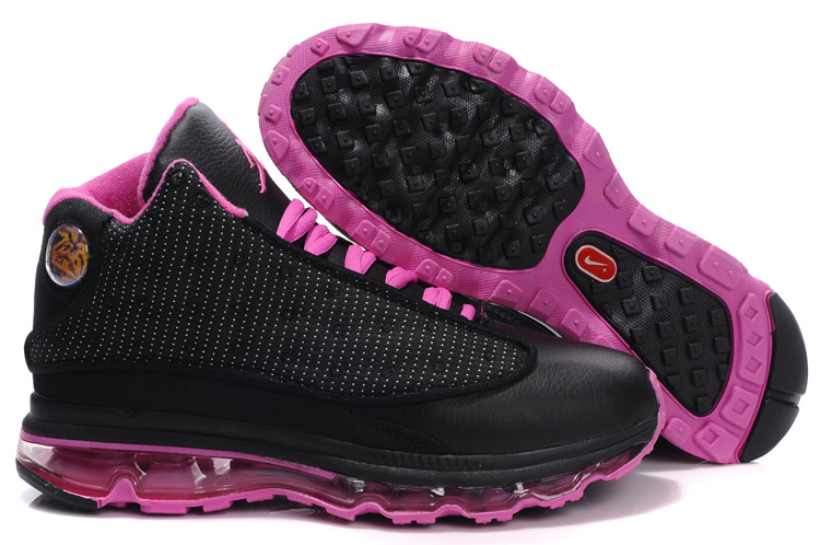 Womens Jordan 13 Air Max 2009 black/deeppink