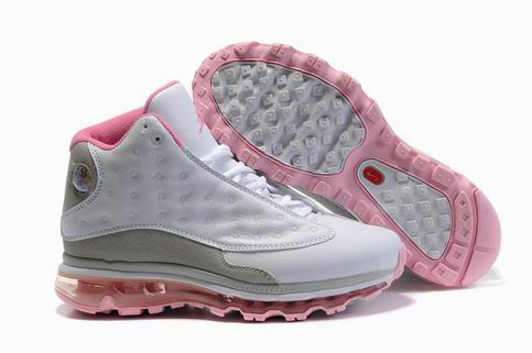 Womens Jordan 13 Air Max 2009 white/gray/pink