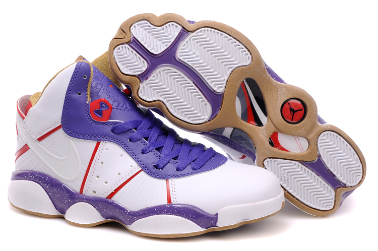 Jordan 13 James 8 white/blueviolet/peru/red