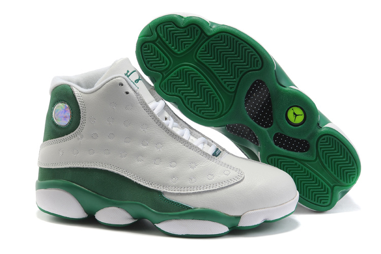 Air Jordan 13 Women white/forestgreen