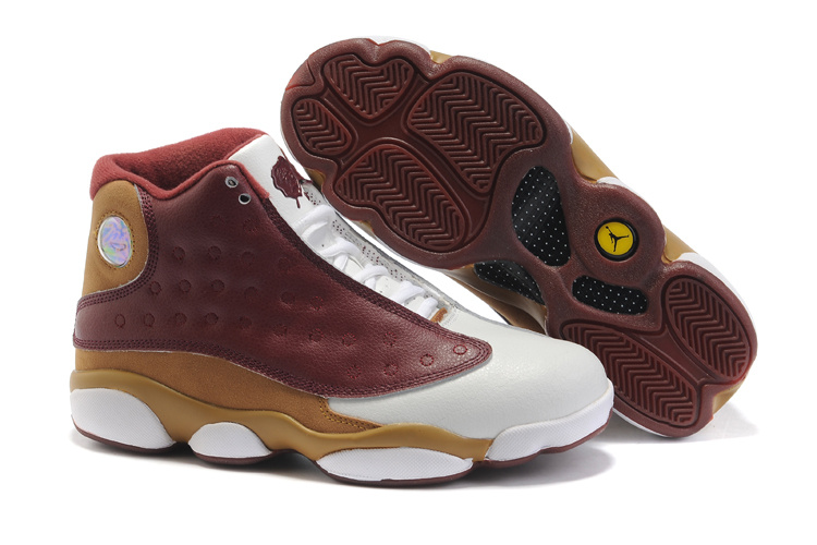 Air Jordan 13 Women white/brown/darkgoldenrod