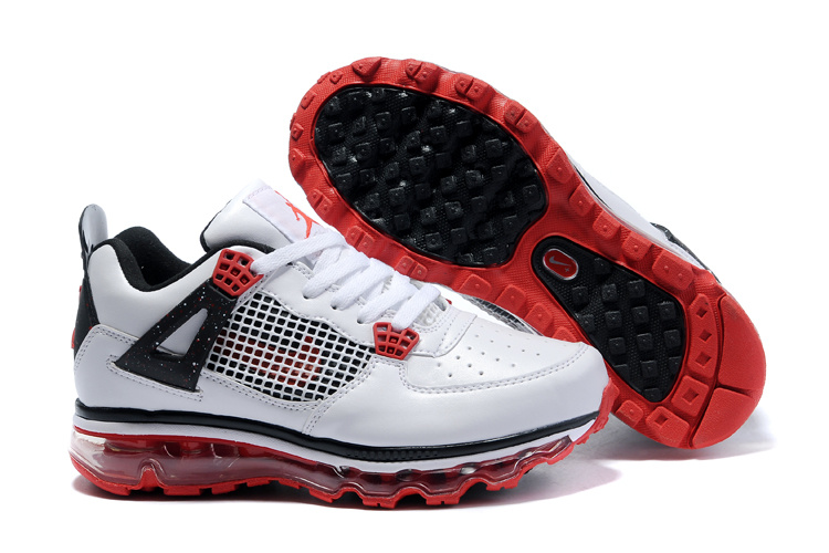 Jordan 4 Air Max Womens white/black/red II