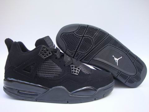 Jordan 4 Shoes black