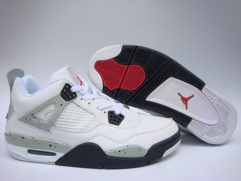 Jordan 4 Shoes black/white/red II