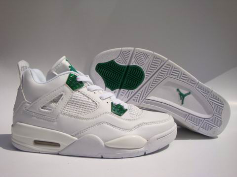 Jordan 4 Shoes white/green