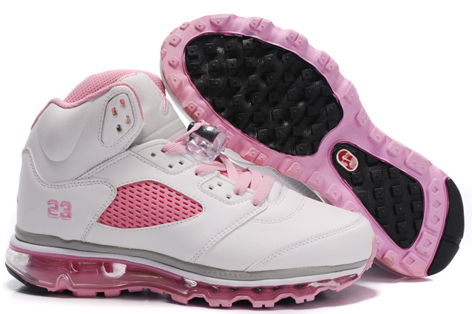 Jordan 5 Air Max Womens white/gray/pink