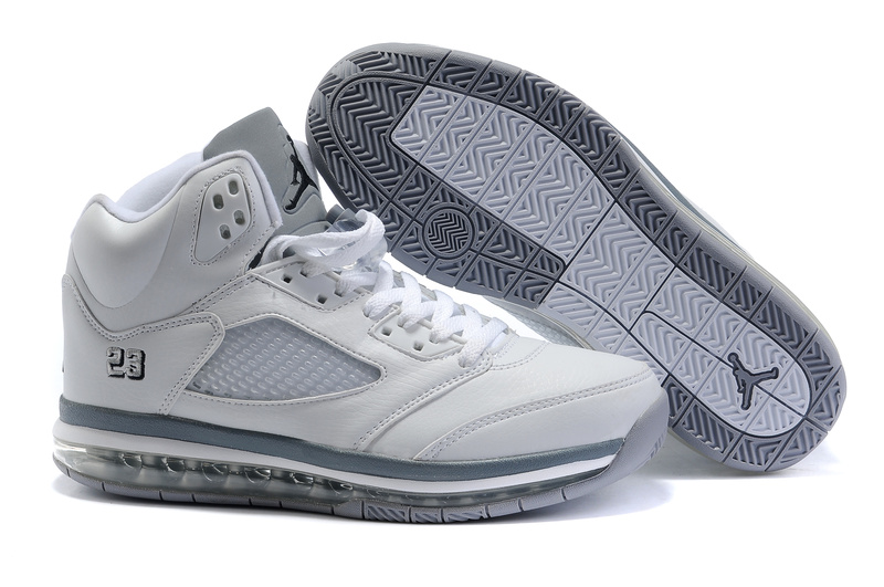 Jordan 5 Air Max white/gray