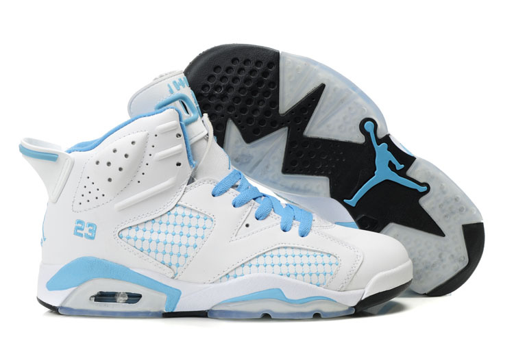 Air Jordan Retro 6 Womens black/white/deepskyblue