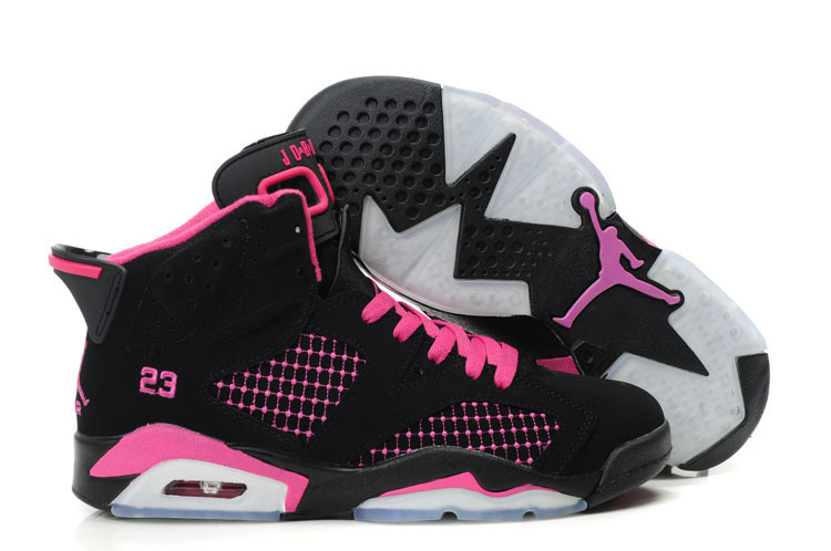 Air Jordan Retro 6 Womens black/white/deeppink