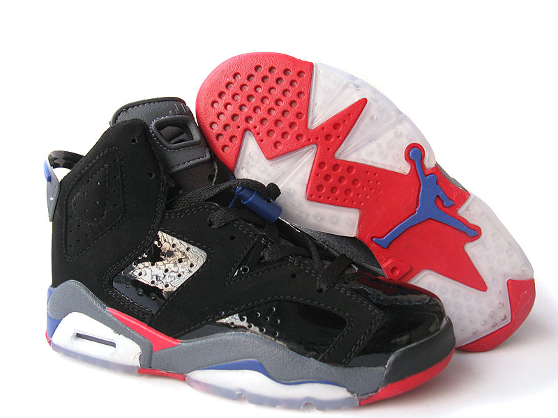 Air Jordan Retro 6 Womens black/red/blue