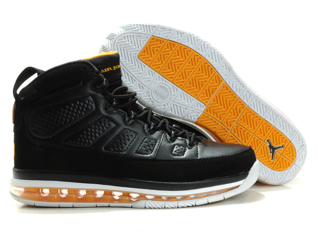 Jordan 9 Air Max black/white/darkorange
