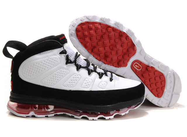Jordan 9 Air Max black/white/red IV