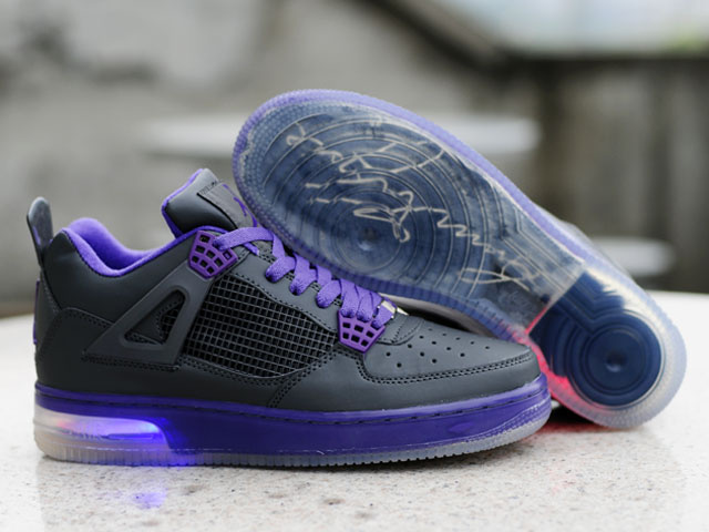Jordan Fusion 4 Shoes black/blueviolet