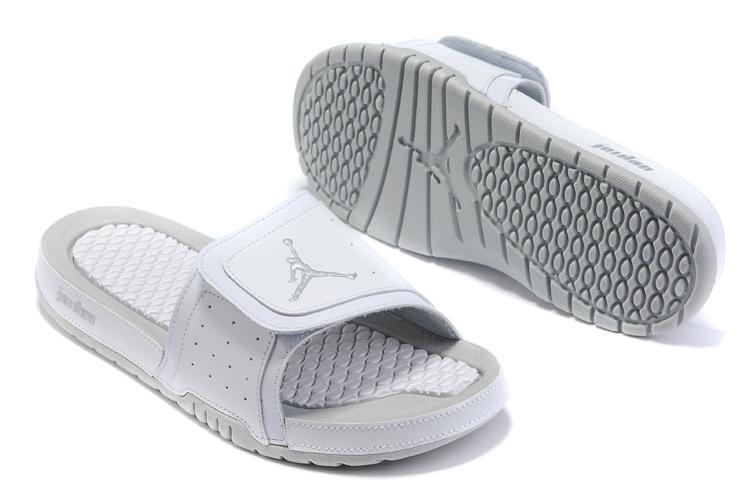 pas cher Soldes Jordan Hydro - Air Jordan Hydro 13 Sandals Blanc