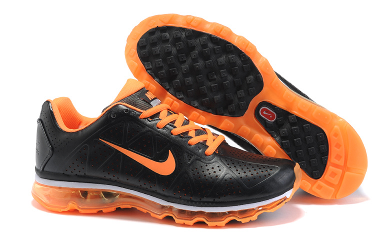 New Nike Air Max 2011 black/darkornge