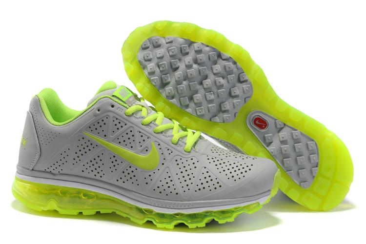 New Nike Air Max 2011 gray/lawngreen