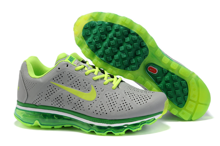 New Nike Air Max 2011 gray/green