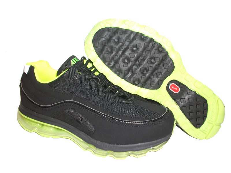 Nike Air Max 24-7 Sneakers black/lawngreen