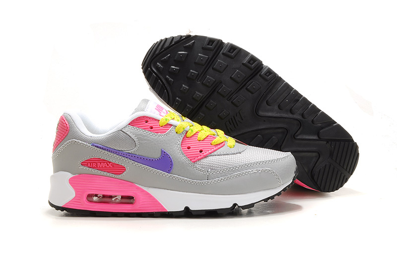 Womens Air Max 90 white/gray/deeppink