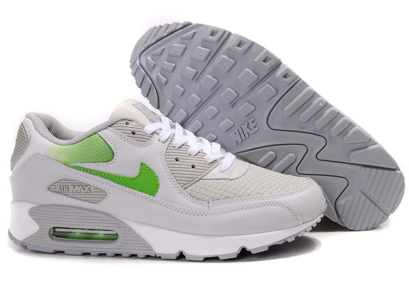 Womens Air Max 90 white/gray/green