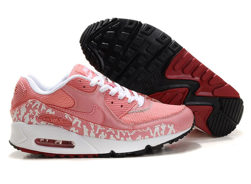 Womens Air Max 90 black/white/red