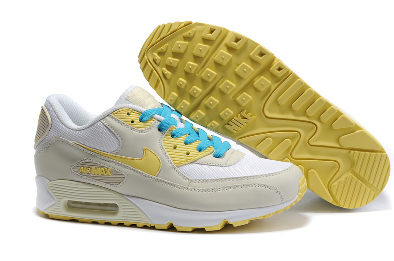Air Max 90 white/lemonchiffon/darkyellow