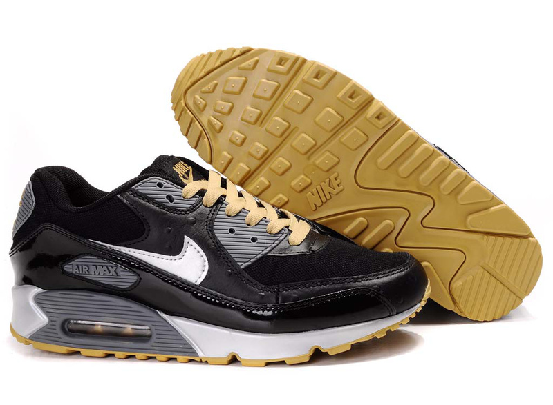Air Max 90 black/white/goldenrod