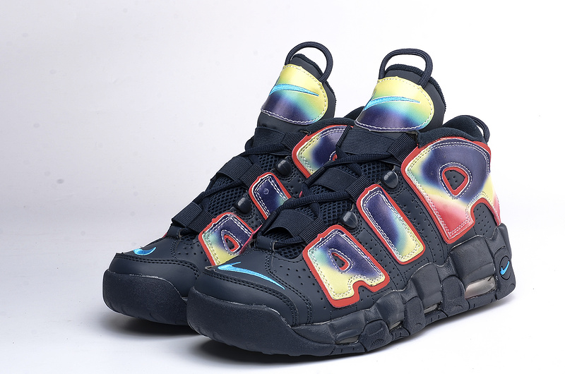 Nike Air More Uptempo QS black/red/deepskyblue