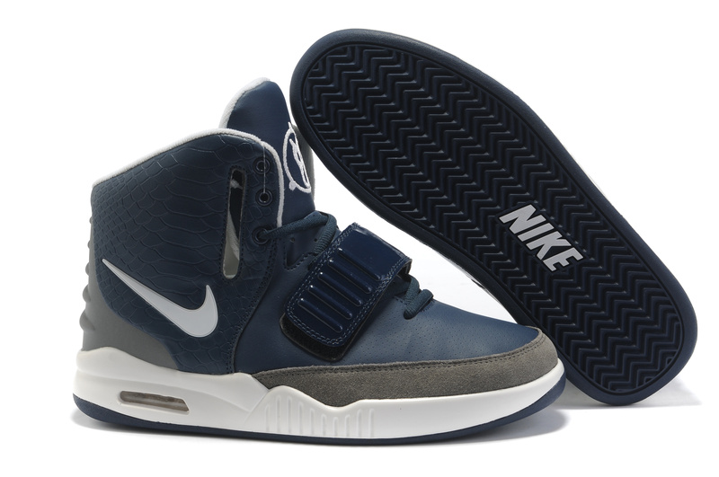 Nike Air Yeezy 2 2011 Navy/Grey/White