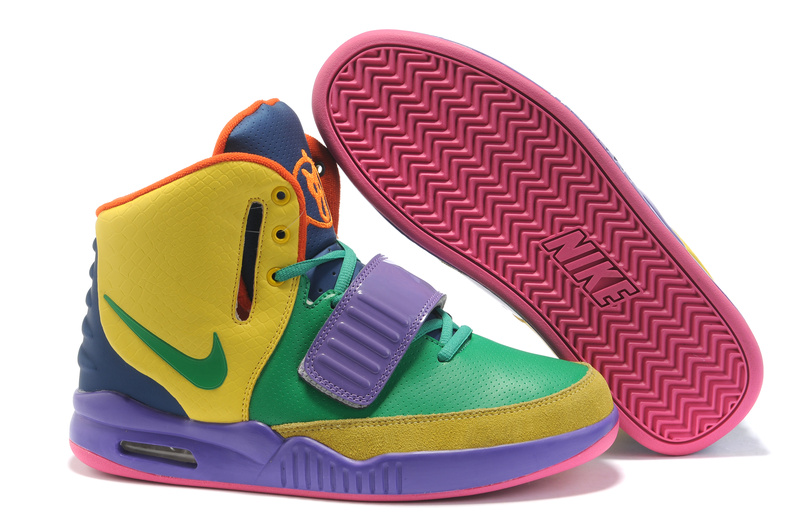 Nike Air Yeezy 2 2011 green/blueviole/yellow