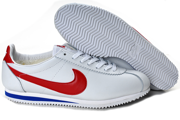 Nike Classic Cortez Shoes white/red/blue II