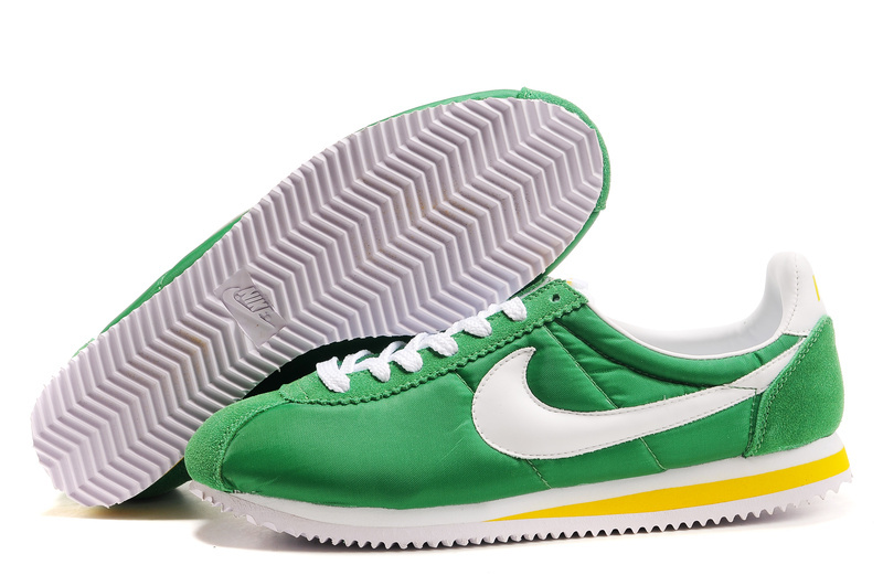 Nike Classic Cortez Shoes forestgreen/yellow/white