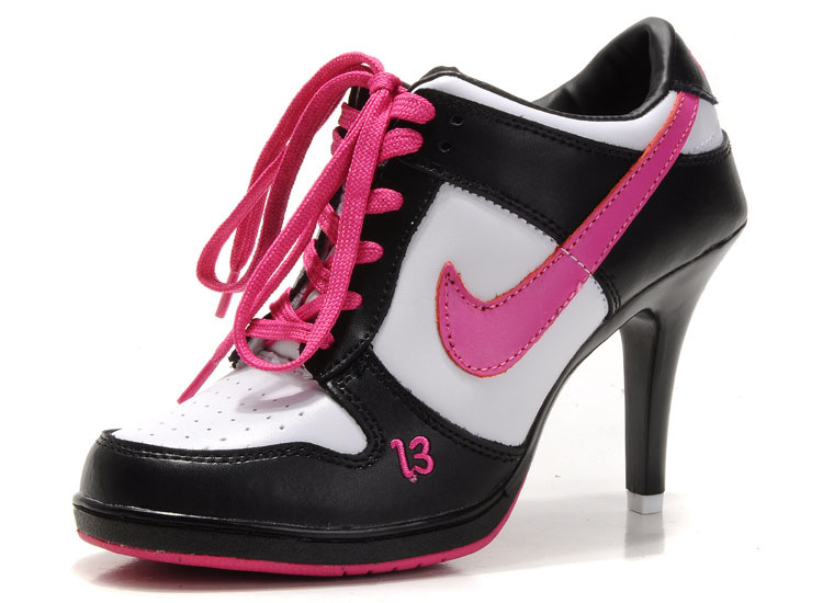 Nike Dunk SB Low Women's Heels black/white/deeppink