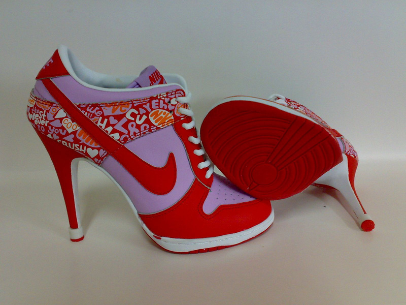 Nike Dunk SB Low Women's Heels white/red/lightslateblue