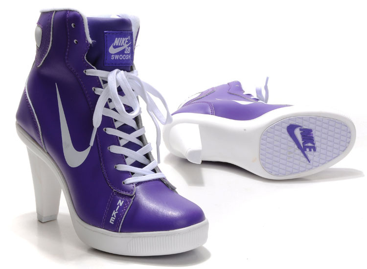 Nike Swoosh High Heels white/blueviolet