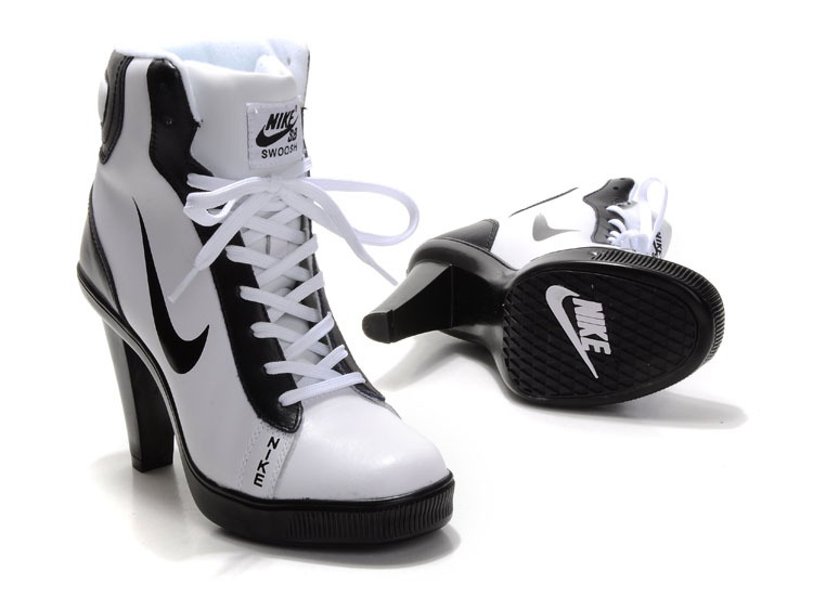 Nike Swoosh High Heels white/black II