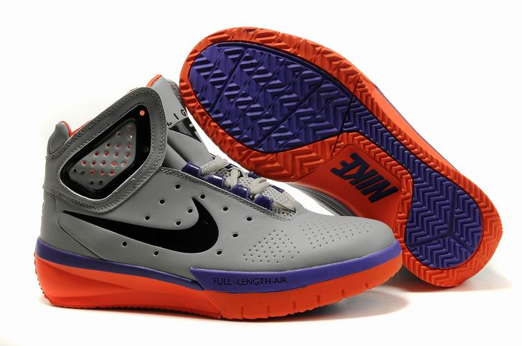 Nike Flight Lite gray/blueviolet/orangered